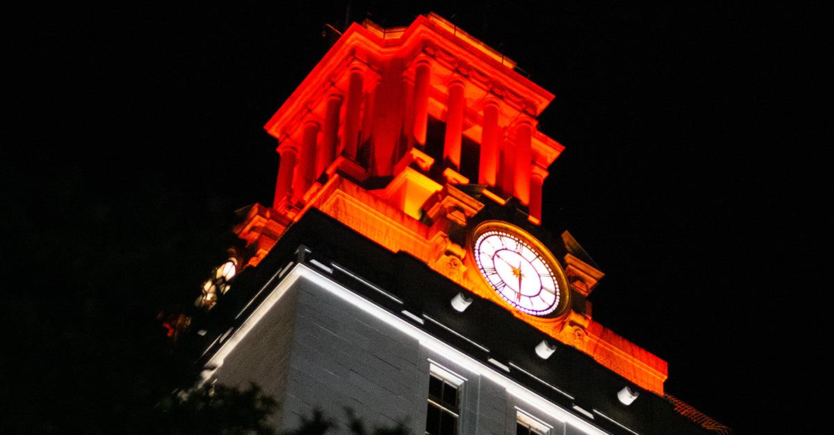 Texas Wins Light The Tower