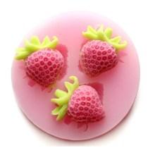 Silicone  Strawberry Fondant Craft Mould