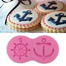Silicone Anchor & Ship Wheel Fondant Craft Mould