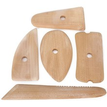 5pc wooden pottery set