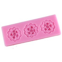 NZ-0241 Silicone 3 x Frilly Flower Mold.7