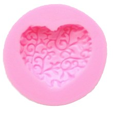 WS NZ-0157 Silicone Lace Heart Mould