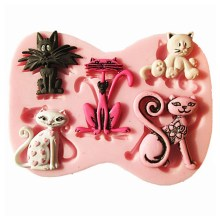 NZ-0295 Silicone 5 x cat mold.1