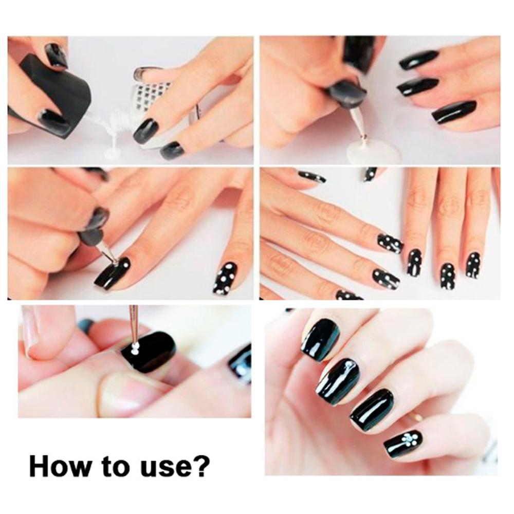 Nail Art Using Dotting Tool: 2pc Dotting Or Marbleizing Nail Art Tool Set