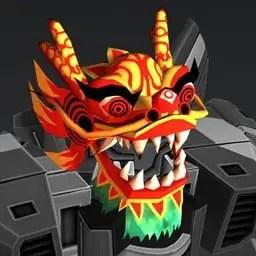 Mascara del dragon año nuevo chino