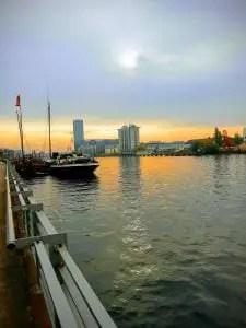 Atardecer junto al río, feng shui