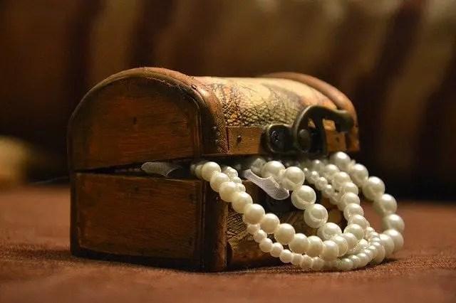 Perlas en un cofre