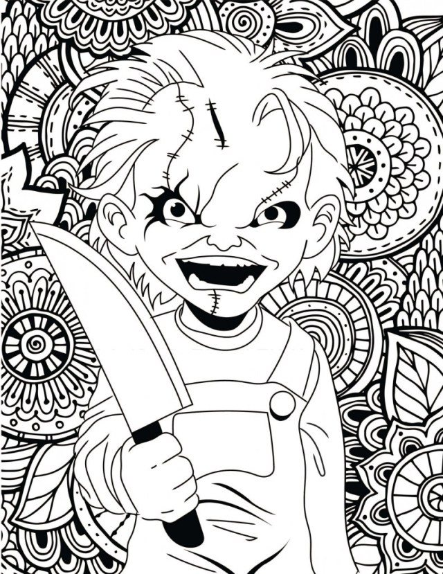 Printable Horror Movie Coloring Pages! – HorrorFix