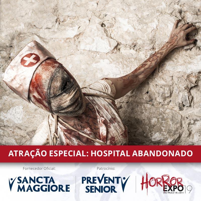 Prevent Senior e rede hospitalar Sancta Maggiore serão responsáveis pela ativação do hospital abandonado e fornecedores oficiais de serviços médicos da Horror Expo | Imagem: divulgação
