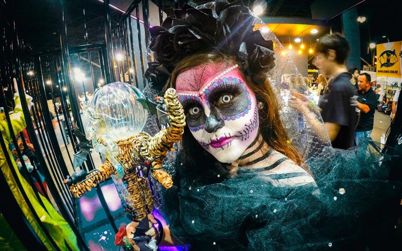 Maquiagem na Horror Expo 2019 | Foto: Jota Rugal