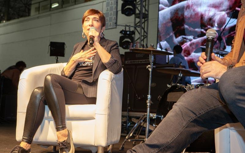 Painel com Naomi Grossman na Horror Expo 2019   Foto: Mariana Serralha