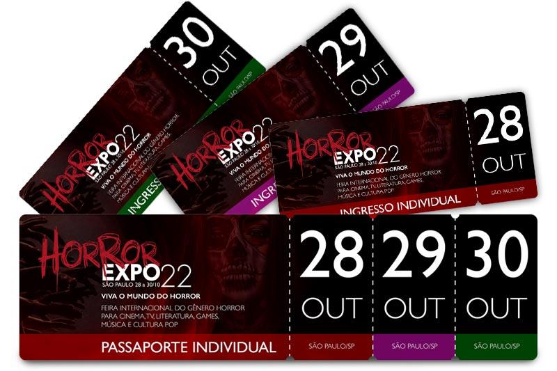 Ingressos   Horror Expo 2022   Viva o Mundo do Horror   Feira Internacional do gênero Horror para Cinema, TV, Literatura, Games, Música e Cultura Pop