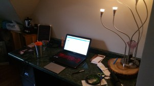 My desk was, unsurprisingly the first thing put together