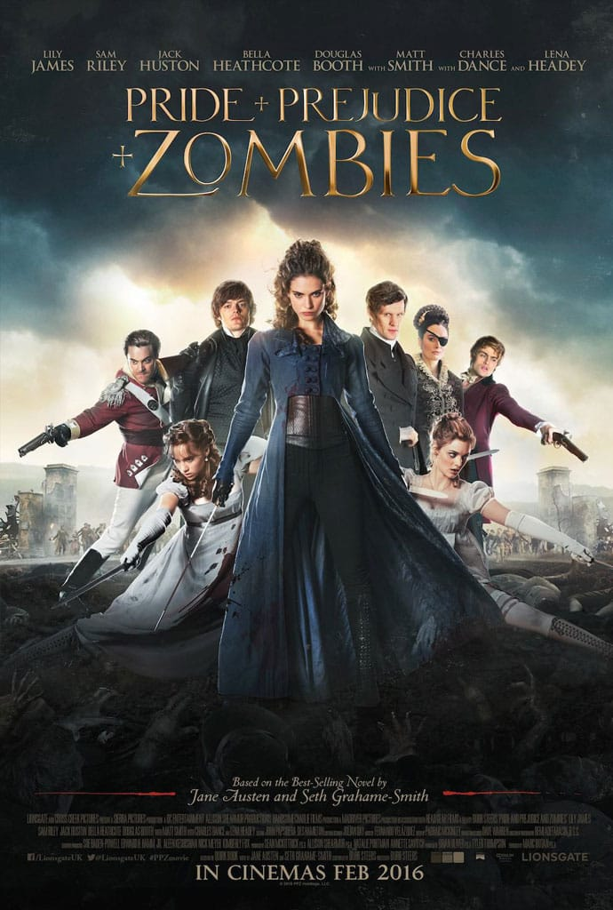 pride prejudice zombies poster