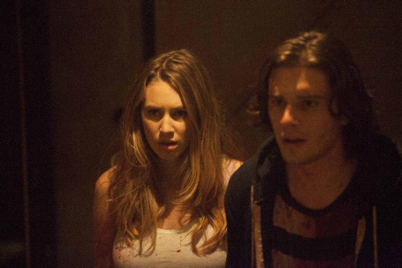 "(L-R): Dylan Penn as Maya and Ronen Rubinstein as Dante in the horror film ""CONDEMNED"" an RLJ Entertainment release. Photo credit: Paul Sarkis."