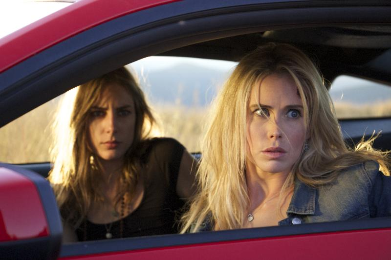(L-R) Drea Whitburn as Leslie and Anna Hutchison as Emily in the thriller film WRECKER an XLrator Media release. Photo courtesy of XLrator Media.