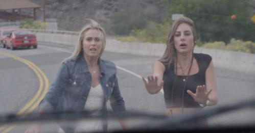 (L-R) Anna Hutchison as Emily and Drea Whitburn as Leslie in the thriller film WRECKER an XLrator Media release. Photo courtesy of XLrator Media.