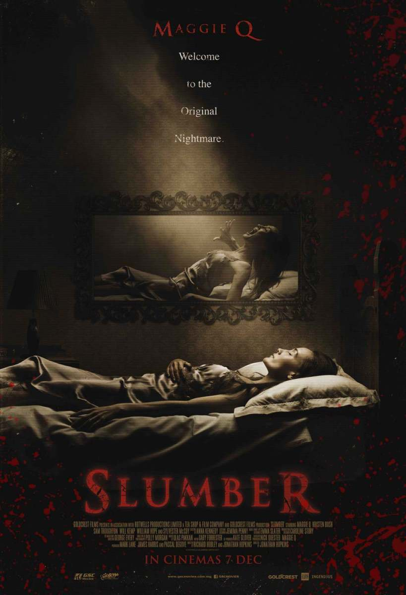 New Poster Design For Maggie Q Horror Film, SLUMBER!