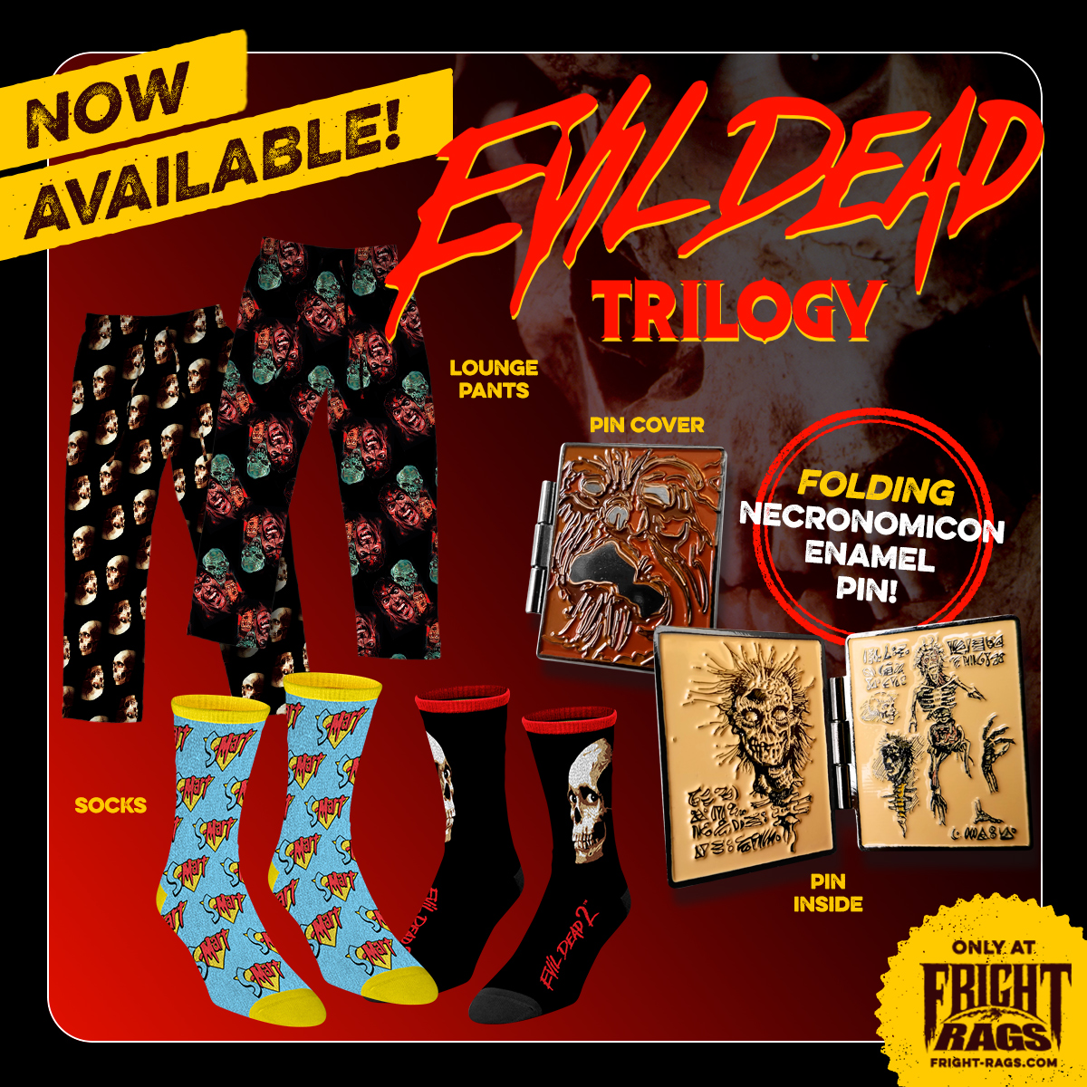 Fright-Rags Debuts Exclusive EVIL DEAD Merchandise!