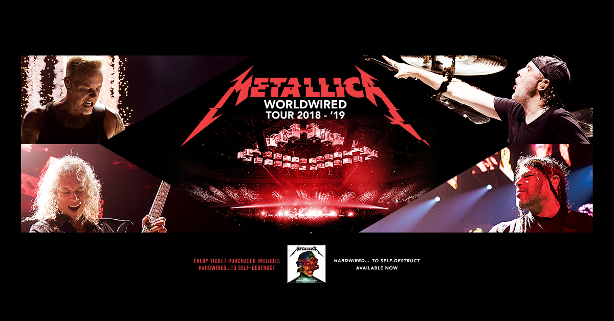 METALLICA - Second North American Leg Of Worldwired Tour Dates!