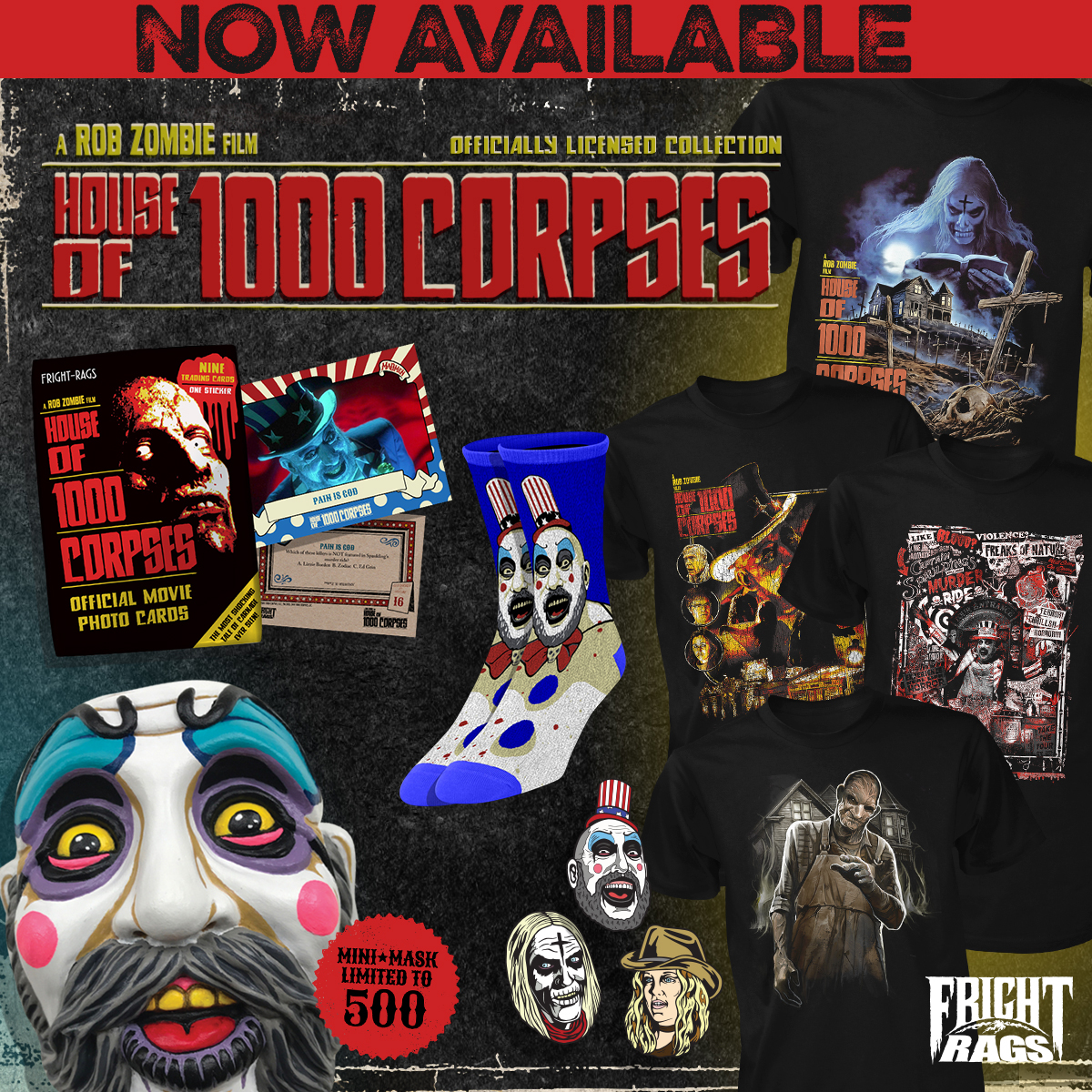 Rob Zombie's HOUSE OF 1000 CORPSES Merch From Fright-Rags!