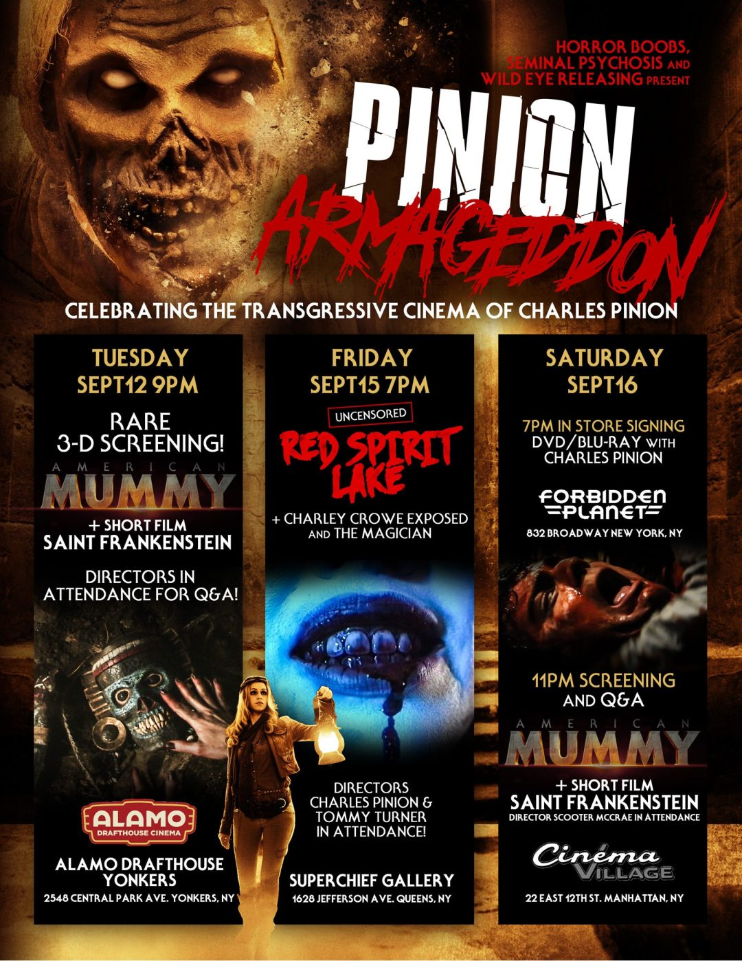 """Charles Pinion's 'American Mummy 3D' to Screen as Part of """"Pinion Armageddon"""""""