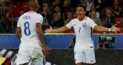المكسيك تتعادل مع البرتغال وتشيلي تهزم الكاميرون بكأس القارات