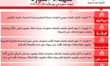 شهداء الثورة: الأحد 16-07-2017