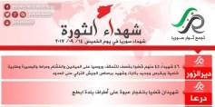 شهداء الثورة: الخميس 14-9-2017