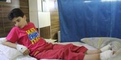 مرض نادر يصيب طفلاً في الغوطة الشرقية..ووالده يناشد المنظمات الدولية