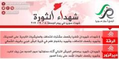 شهداء الثورة: الجمعة 8-9-2017