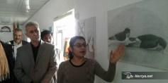معرض فن تشکیلي بمخیم للاجئین السوريين في کردستان العراق
