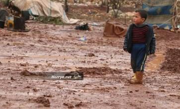 ظروف انسانية صعبة يعيشها النازحون في شمال سوريا