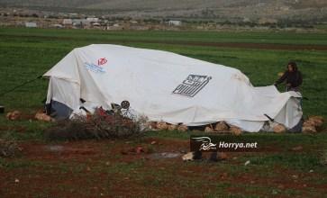 عاصفة جديدة تقتلع خيام النازحين في إدلب