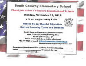 Veterans Breakfast and South Conway Elementary