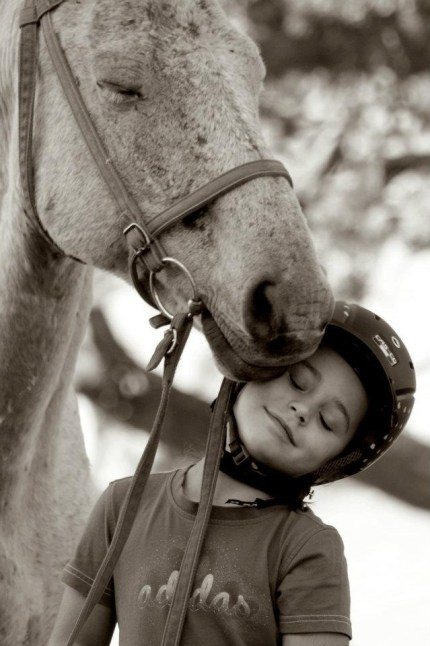 Sudre Meyer, age 7, with Fielies. Such a sweet moment LOVE!