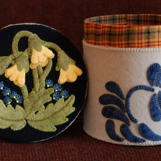 Wool Applique Patterns – Stoneware Crocks – Horse and Buggy Country
