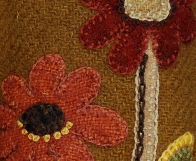 Wool applique pattern u ctall autumn flowersu d sachet pin cushion