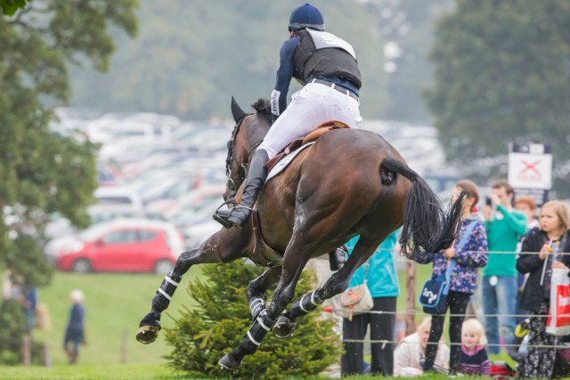 On their way to another cross-country clear; Jock and Promise (Image: Libby Law)
