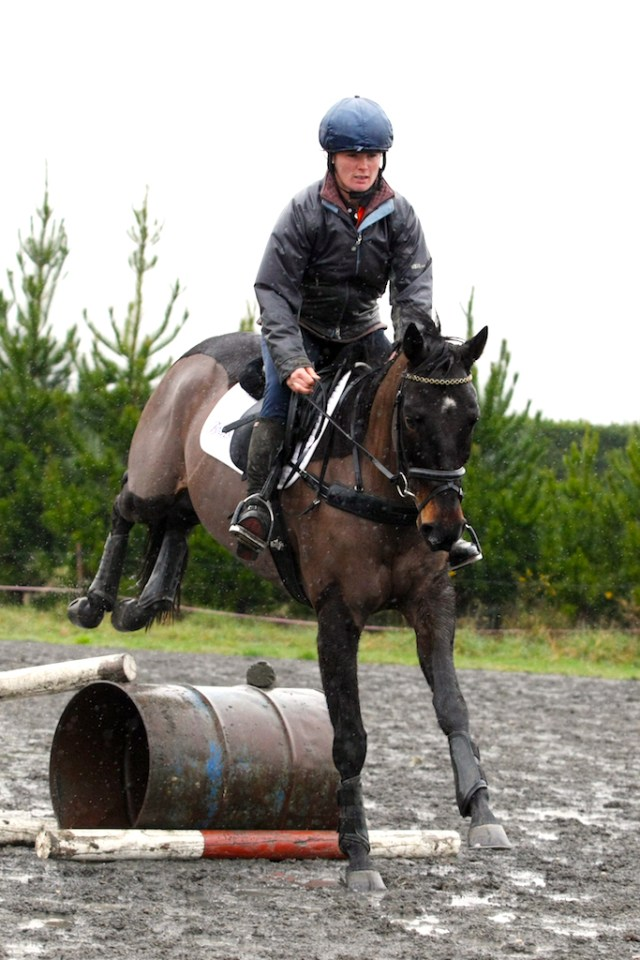 Preparation is key; Emily does most of her xc schooling over show jumps (image: Annie Studholme)
