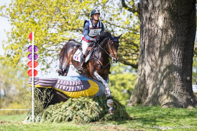 FRA-Karim Laghouag (ENTEBBE DE HUS) FINAL-3RD: Event Rider Masters CIC3* CROSS COUNTRY: 2016 GBR-Dodson and Horrell Chatsworth International Horse Trial (Sunday 15 May) CREDIT: Libby Law COPYRIGHT: LIBBY LAW PHOTOGRAPHY