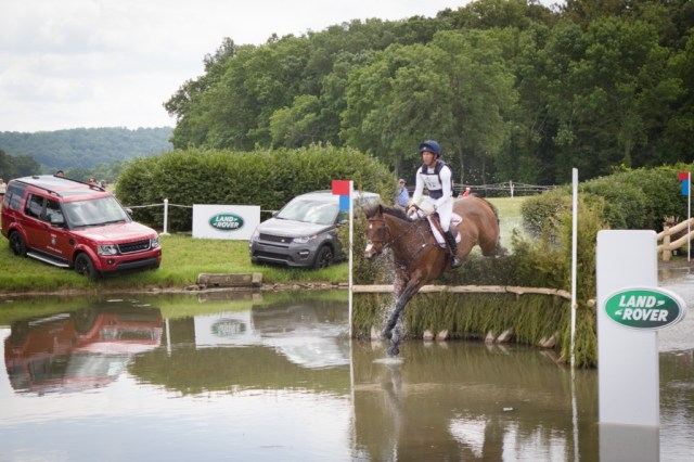 Clark Montgomery riding Loughan Glen competes in the Cross Country phase of the 2016 Land Rover Great Meadow International on Sunday, July 10, 2016, at the Great Meadow Foundation in The Plains, VA.