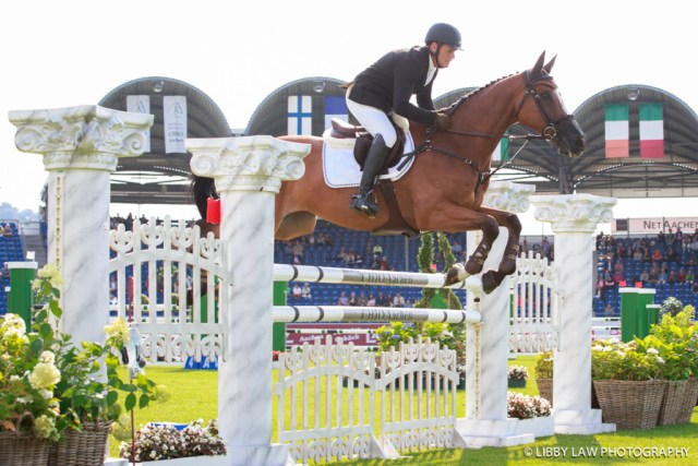 Blyth Tait on Xanthus III; another clear show jumping round (Image: Libby Law)