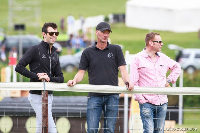 Not sure who they were watching but mixed reactions from Clarke Johnstone and Erik Duvander! (Image: Libby Law)