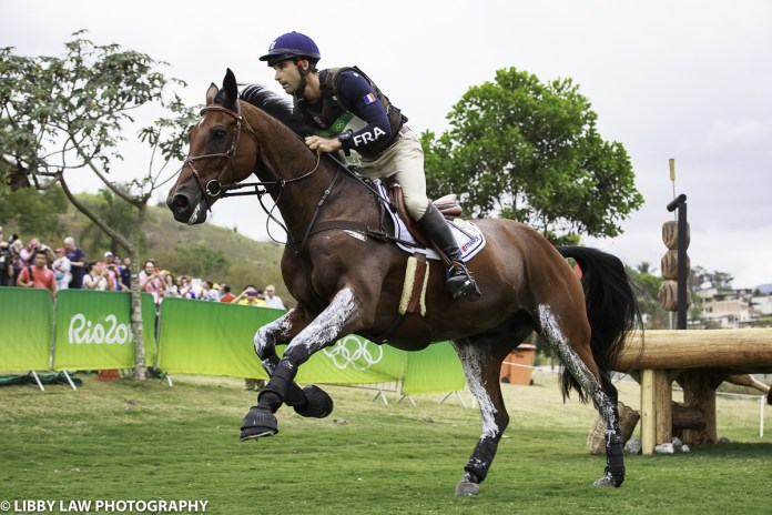 Astier Nicolas on Piaf De B'Neville is on 42 penalties in third place. He rode a beautiful round. (Image: Libby Law)