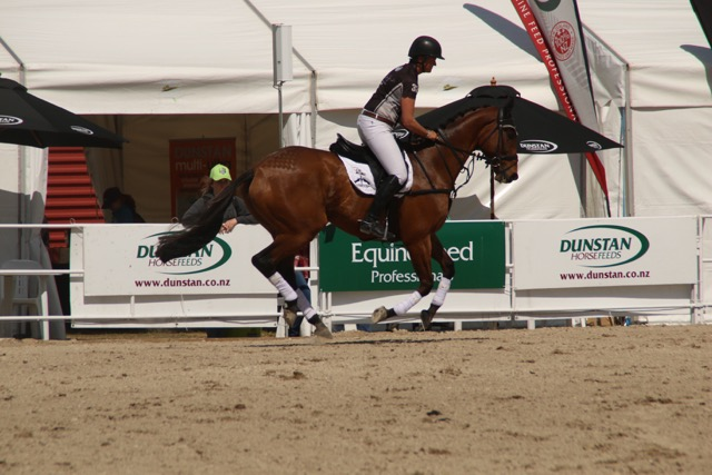 Donna Edwards-Smith & DSE Sunset Pass, winners of the Dunstan Ex-Factor
