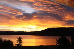 Sunrise at Horsefly Lake