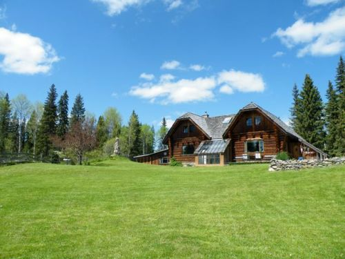 Unique Opportunity: Log Home with 1500 acre Wood Lot & Sawmill $595,000 - 2898 Swan Road, Big Lake, BC