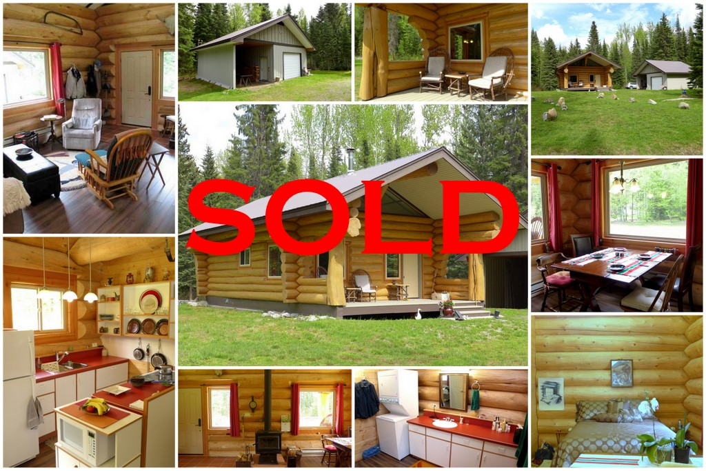 SOLD! Gorgeous Cariboo Log Cabin on 15 acres - 9323 Keithley Creek Road