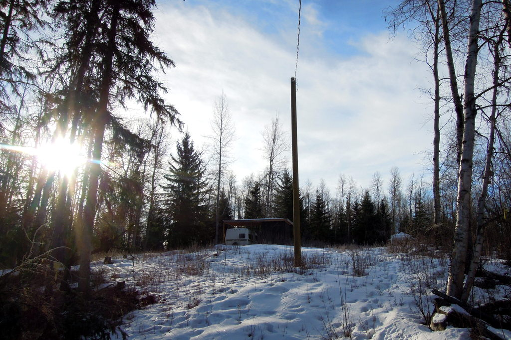 Land for Sale near Horsefly Lake with Travel Trailer & Shelter - Lot 16 Horsefly Landing Road